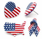 Patriotic American Flag Pins