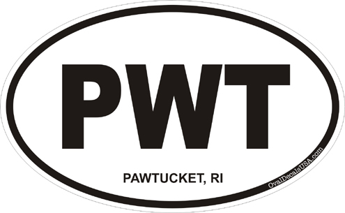 Pawtucket rhode island oval decal