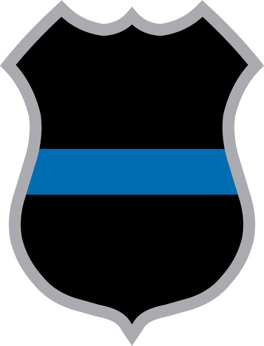 Thin Blue Line Police Badge Decal