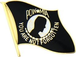 POW/MIA Flag Lapel Pin