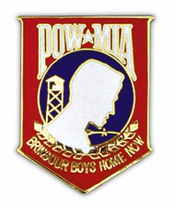 "POW MIA Red Blue White 1.5"" Lapel Pin"