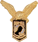 POW with Eagle Lapel Pin