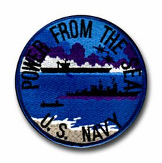 """POWER FROM THE SEA"" 4½"" MILITARY PATCH"