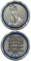 Praying Hands Challenge Coin