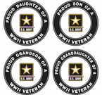 Proud Army Family WW2 Veteran Decals