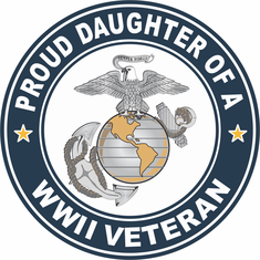 Proud Daughter of a U.S. Marine Corps World War II Veteran Decal