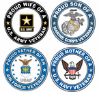 Proud Family Veteran Stickers