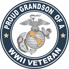 Proud Grandson of a US Marine Corps World War II Veteran Decal