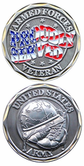 Proudly Served United States Army Challenge Coin