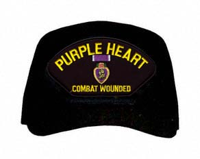 Purple Heart Combat Wounded with Medal Ball Cap