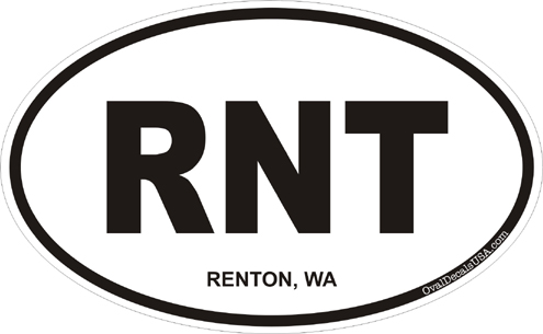 Renton washington oval decal