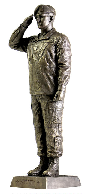 What Is The Best Military Branch >> Saluting Army DB Bronze Statue
