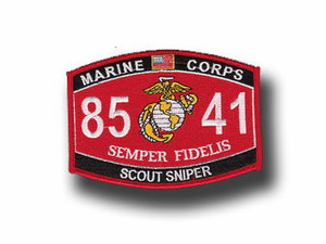 """Scout Sniper Marine Corps MOS 8541 USMC 5"""" Military Patch"""