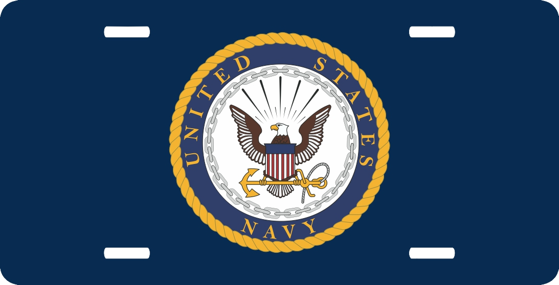 Us Navy Insignia License Plate