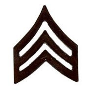Sergeant  (black) Lapel Pin