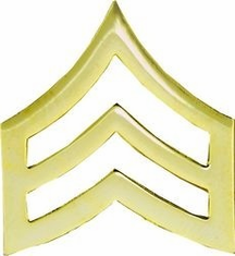 Sergeant (Gold) Lapel Pin