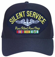 ' Silent Service, Runs Silent / Runs Deep ' with Vietnam Veteran Ribbons Ball Cap