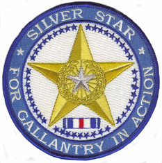 "Silver Star Medal 4"" Patch"