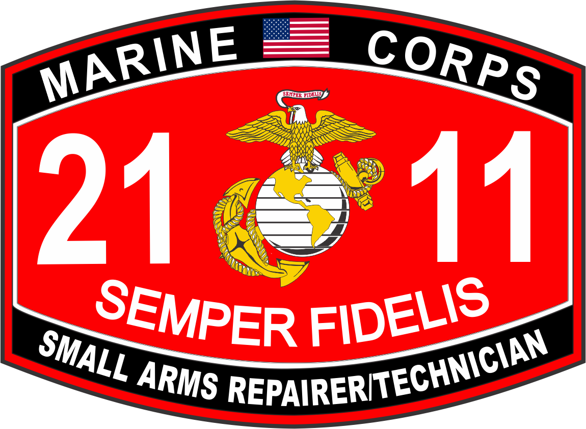 Arms Repairer / Technician Marine Corps MOS 2111 USMC Military Decal