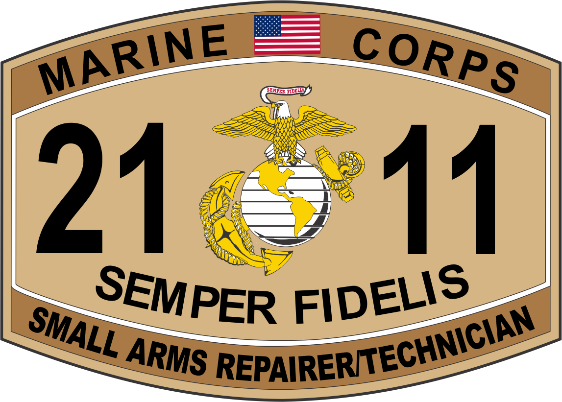 Small Arms Repairer / Technician Marine Corps MOS 2111 USMC ...