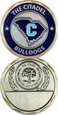 South Carolina Citadel Bulldogs Challenge Coin with Engravable Blank