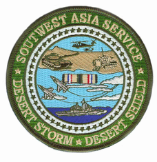 "Southwest Asia Service Medal Desert Storm 4"" Patch"