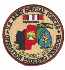 "Special Forces 4"" Operation Enduring Freedom Patch"
