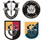 Special Forces Flashes Stickers Decals