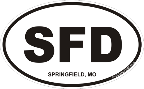 Springfield missouri oval decal