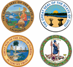 State Seal Vinyl Transfer Decals