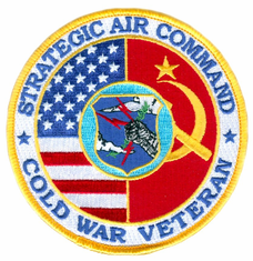 "Strategic Air Command Cold War Veteran 4"" Patch"