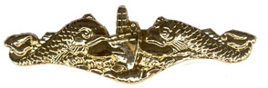 Sub Dolphin Enlisted Lapel Pin