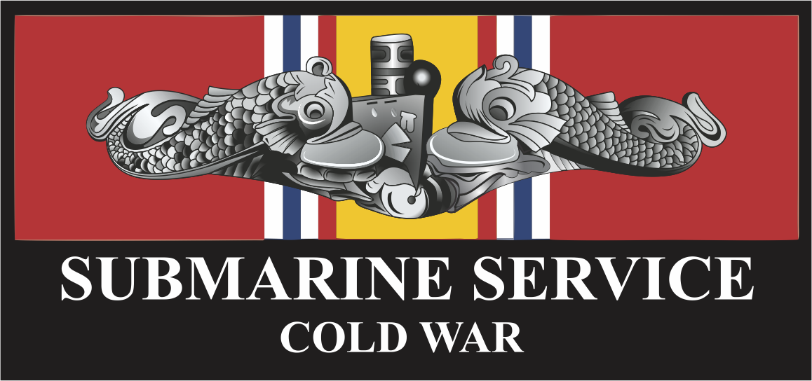 Submarine Service Silver Dolphins Cold War Veteran Decal