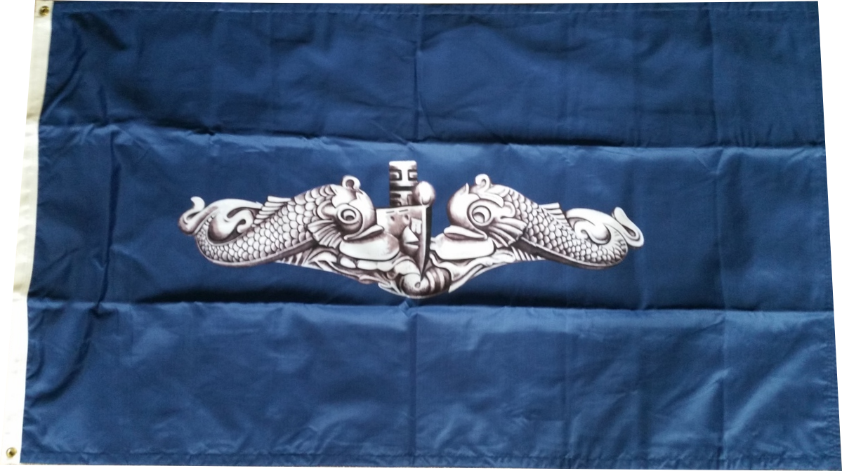 Submariner Silver Dolphins Flag (3' x 5')