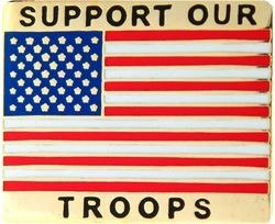 Support Our Troops Lapel Pin