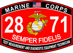 Test Measurement and Diagnostic Equipment Technician Marine Corps MOS 2871 USMC Military Decal