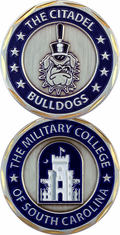 The Citadel Bulldogs Military College South Carolina Challenge Coin