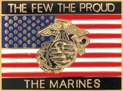 'THE FEW, THE PROUD, THE MARINES' LAPEL PIN