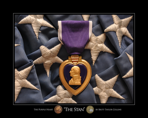 """THE SANDBOX"" Purple Heart for Iraq War"