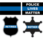 Thin Blue Line Decals