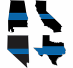 Thin Blue Line State Decals