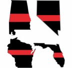 Thin Red Line State Decals