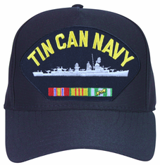 ' Tin Can Navy ' with Destroyer and Vietnam Veteran Ribbons Ball Cap