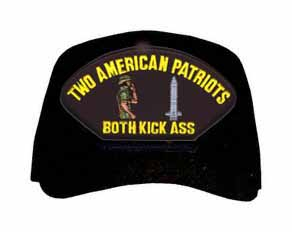 Two American Patriots ... Both Kick Ass Ball Cap
