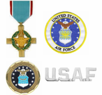 U.S. Air Force Pins, Patches, Coins and Medals