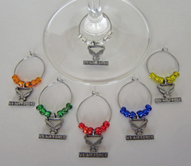 U.S. Air Force Wine Glass Charms