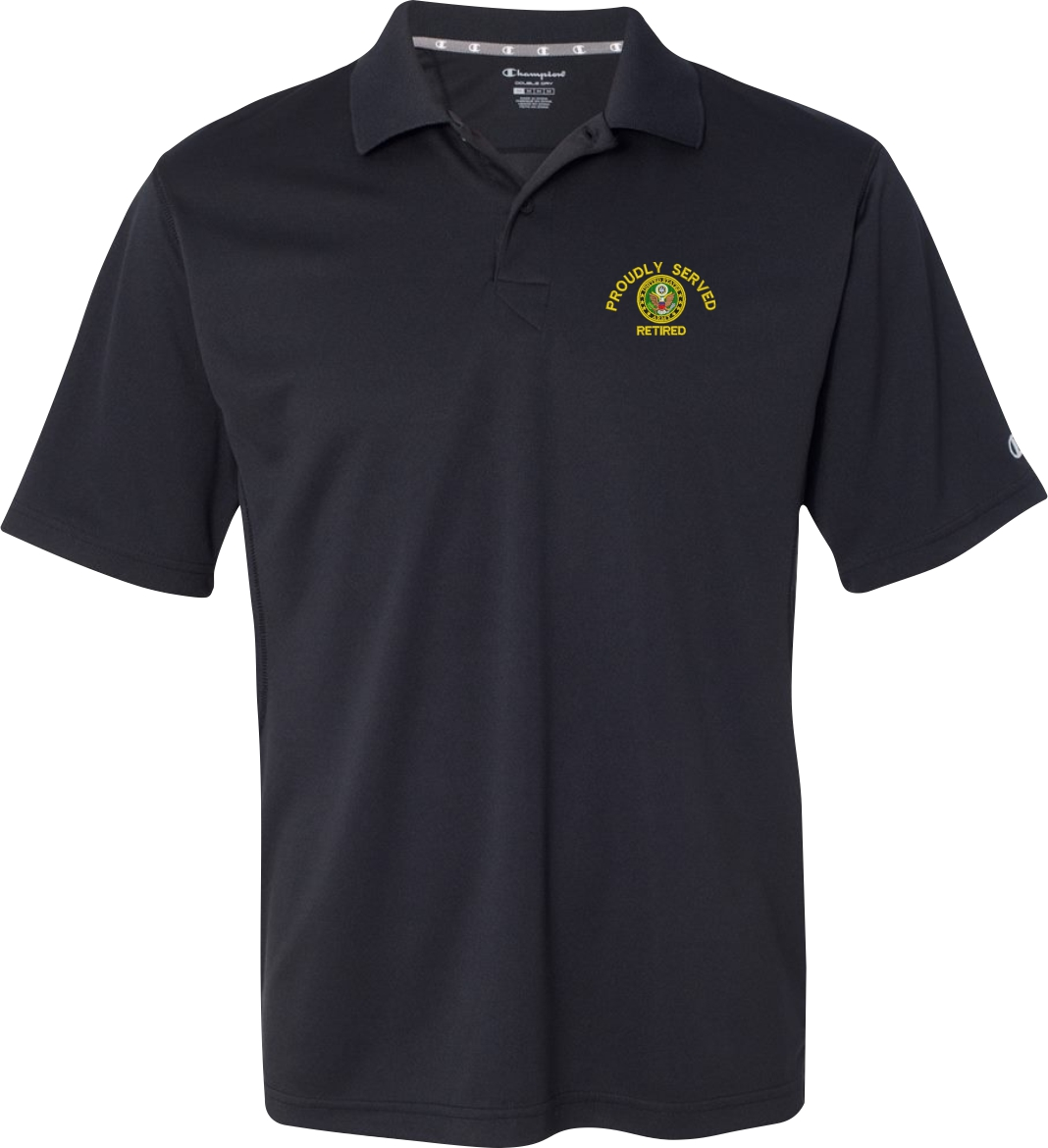 U s army custom embroidered moisture wicking polo shirts for Embroidered police polo shirts