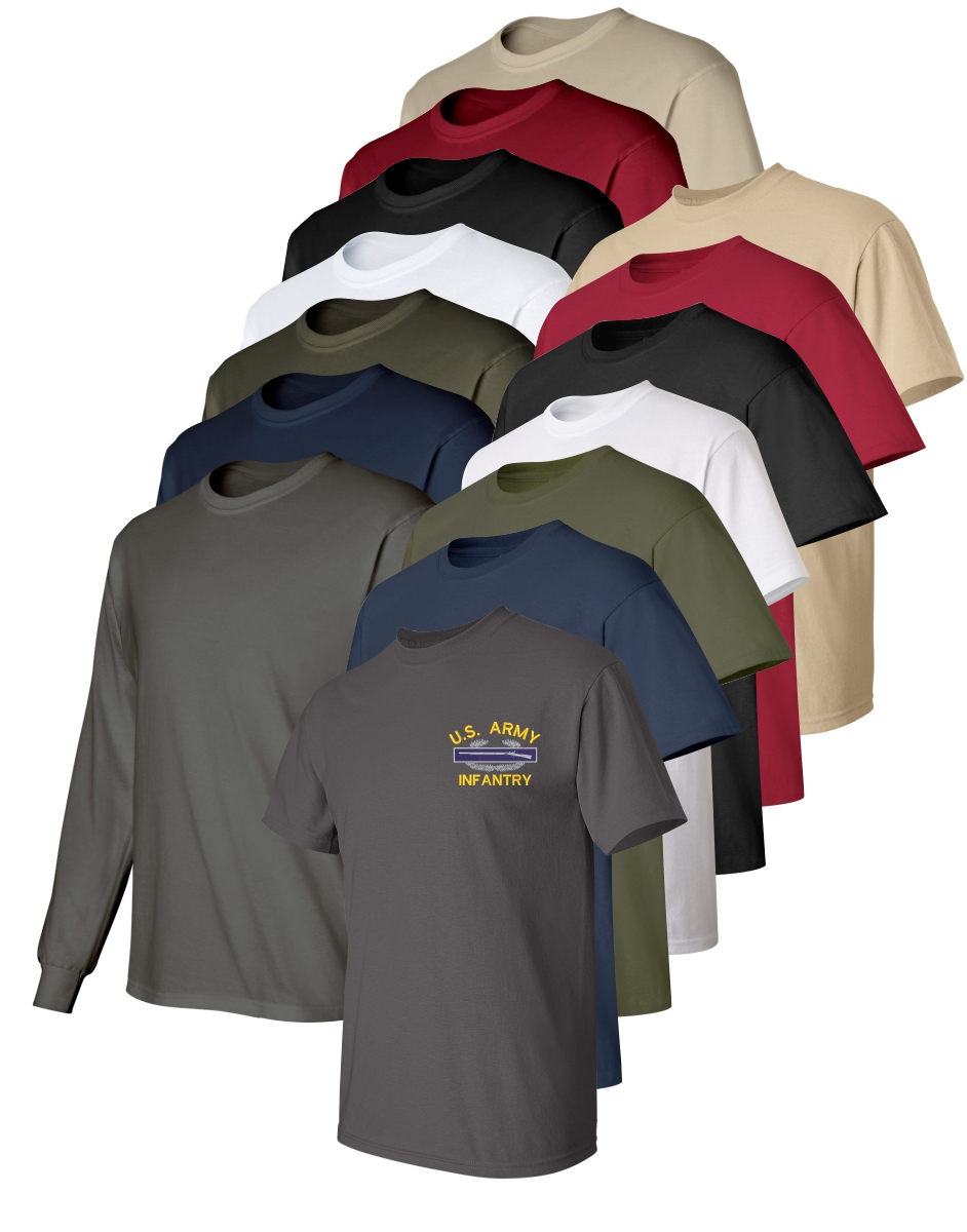 United states army custom embroidered t shirts for Custom military unit t shirts