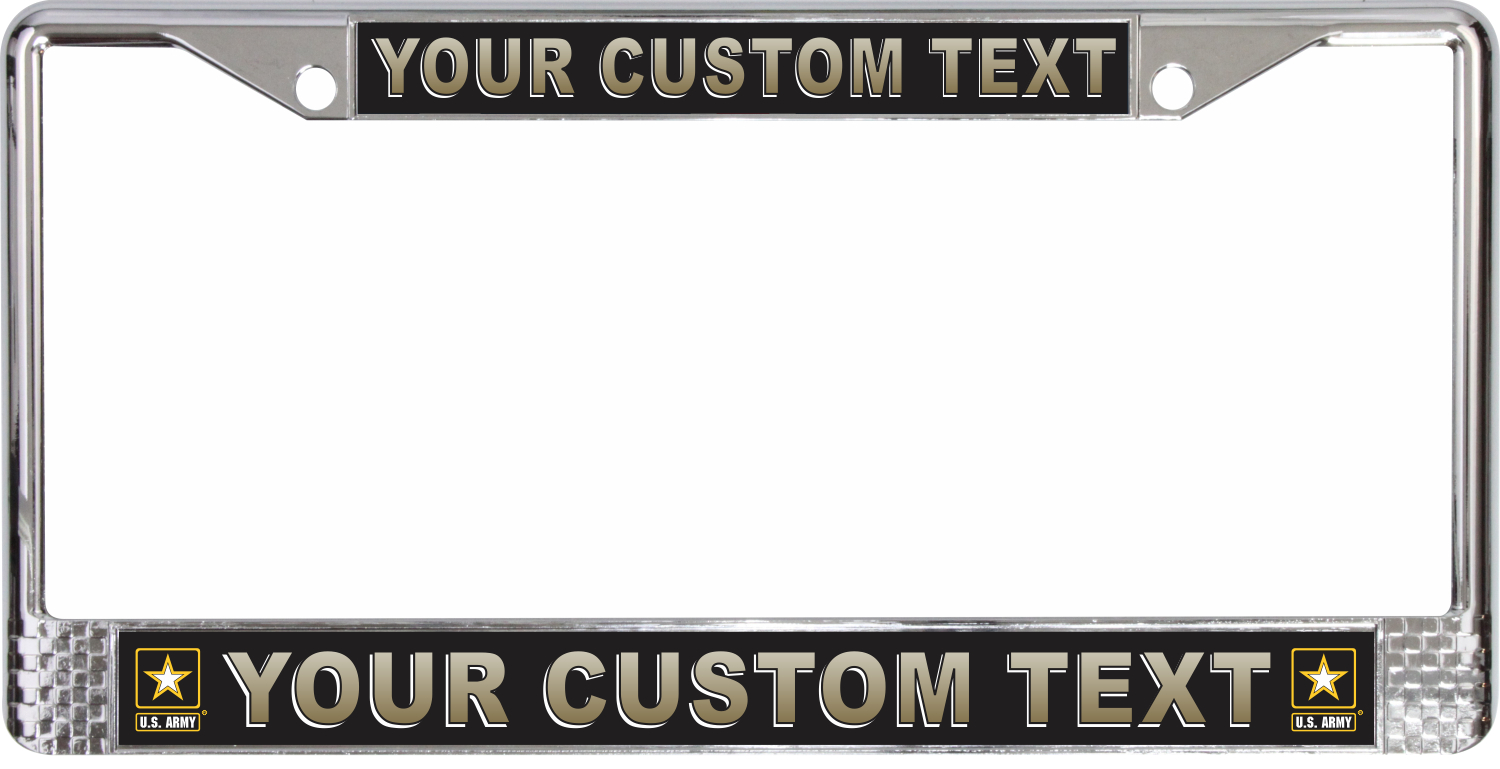 U S Army Custom License Plate Frame