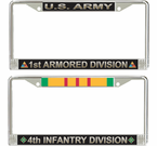 U.S. Army Division License Plate Frames